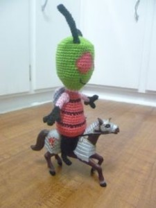 Here he is riding a horse :)